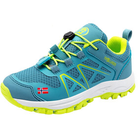 TROLLKIDS Sandefjord Hiker Buty Dzieci, dolphin blue/lime